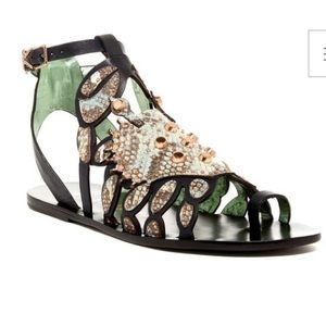 Ivy Kirzhner Jade Mamba Leather Gladiator Sandals